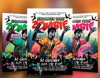 Halloween Zombie Party Flyer Template Download Vol - 3