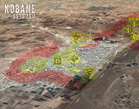 Kobane City Battle Map