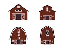 Set of farm builodings