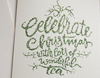 Celebrating christmas with darjeeling tea typography