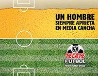 Branding vasos Tecate Futbol