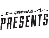 Logo for WaterAids' event: Presents
