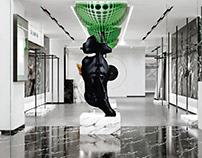 哈喽设计 | 大良品潮流服装店空间设计