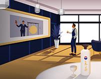 茅台王茅酒插画——Ju(julin插画师)白酒插画,室内插画