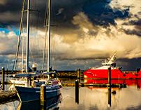Lauwersoog harbour