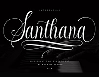 Santhana Calligraphy font