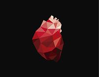 Coração geométrico