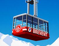 Brevent,Chamonix Ski Poster