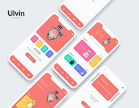 UI/UX Perfume Shopping App Design - Living Coral Color