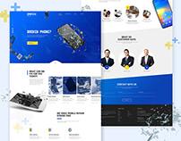 Opntech - Landing page Ui / UX web design