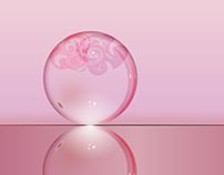 3D Logo of Crystal marbal logo