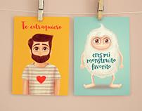 Colección de postales ilustradas