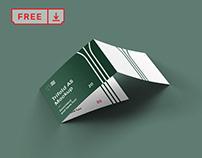 Free Trifold A5 Landscape Leaflet Mockup