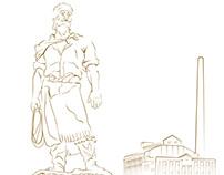 Ilustrações de pontos turísticos