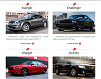 Dodge. Landing page for DTmotors, Belarus