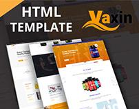 VAXIN-Health Supplement Medicine HTML Template