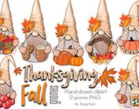 Fall gnomes Clipart,