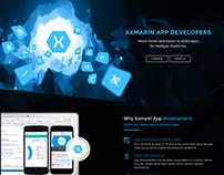 Xamarin App Development Web Page