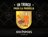 100 Pipers - Un Tronco para la parrilla