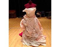 Renoir-inspired Paper Dress Sculpture