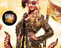 Pirate Costume Party PSD Flyer Template