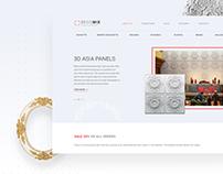 Decomix - Minimal UI Website for Creative Workshop