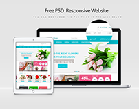 Free PSD  Responsive Website