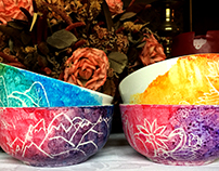 Etched Bowl Set on Etsy