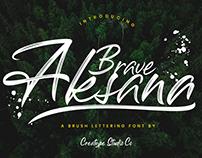 AKSANA BRUSH SCRIPT - FREE SCRIPT FONT