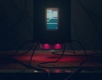 Tiny glowing screens