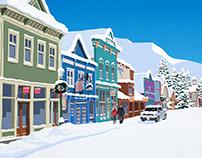 Crested Butte Ski Resort Poster