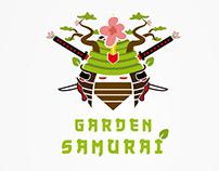 Garden Samurai Logo Ilustration