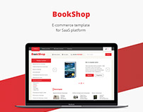 Book shop/E-commerce template/Web design/UI/UX