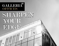 """Galleria40 Offices """"Sharpen your Edge"""" Campaign"""