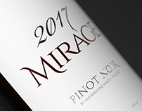Mirage - fictional wine bottle and label design