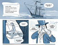 "Comic inspired by the opening of ""Master & Commander"""