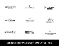 15 Free Minimal Logo - PSD
