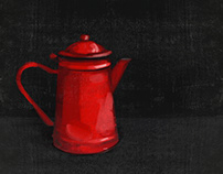 Enamelware Pitcher, red