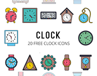 Clock Vector Free Icon Set