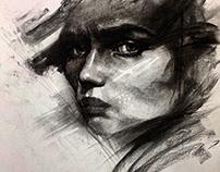 Charcoal portrait series 01