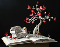 Go Back To That Magic Time - Book Sculpture