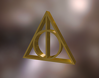 The Deathly Hallows 3D Ornament