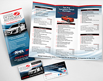 Auto Detailing Brochure and Cards
