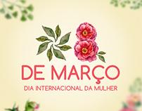 Campanha do dia Internacional da mulher.