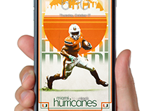 University of Miami Athletics Vintage Poster Wallpapers