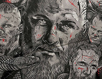Illustration Vikings for new Moska collection