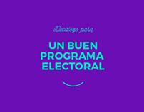 Un buen programa electoral