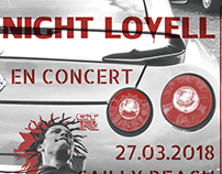 Poster en surimpression du chanteur Night Lovell