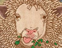 Welsh sheep portrait