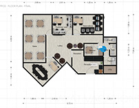 Office Floor Plan - Interior & Furniture Fit-out